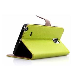 Peňaženkové puzdro s pútkom na Samsung Galaxy Note 4 -  zelené - 3
