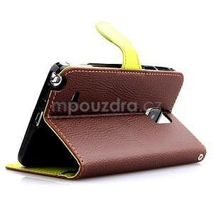 Peňaženkové puzdro s pútkom na Samsung Galaxy Note 4 - hnedé - 3