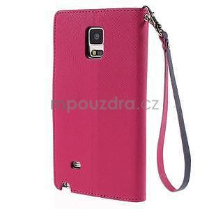 Stylové peňaženkové puzdro na Samsnug Galaxy Note 4 -  rose - 3