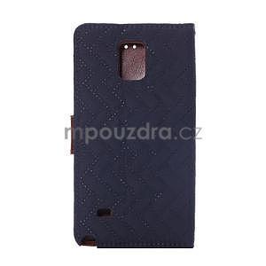 Elegantné peňaženkové puzdro pre Samsung Galaxy Note 4 - tmavomodre - 3