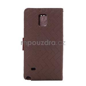 Elegantné peňaženkové puzdro na Samsung Galaxy Note 4 - hnedé - 3