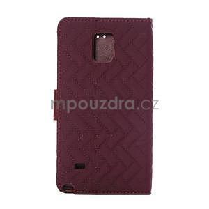 Elegantní penženkové puzdro na Samsung Galaxy Note 4 - vínové - 3