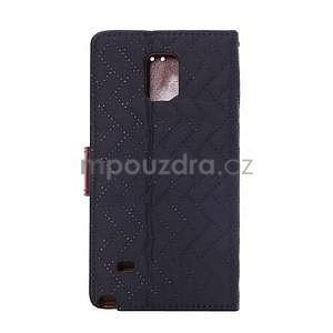 Elegantné peňaženkové puzdro pre Samsung Galaxy Note 4 - čierne - 3