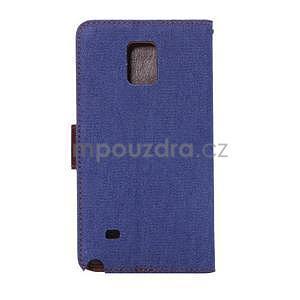 Jeans peňaženkové puzdro pre Samsung Galaxy Note 4 - modré - 3