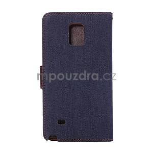 Jeans peňaženkové puzdro pre Samsung Galaxy Note 4 - tmavo modré - 3