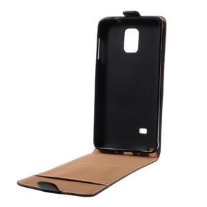 Flipové puzdro pre Samsugn Galaxy Note 4 - čierne - 3