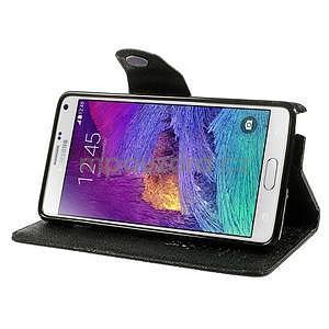 Zapínací peneženkové poudzro Samsung Galaxy Note 4 - čierne - 3