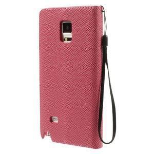 Zapínací peneženkové poudzro Samsung Galaxy Note 4 -rose - 3