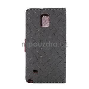 Elegantné peňaženkové puzdro na Samsung Galaxy Note 4 - šedé - 3