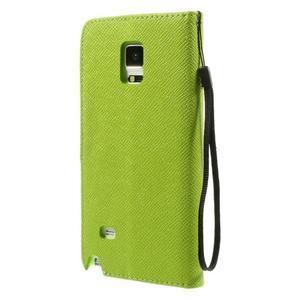 Zapínací peneženkové poudzro Samsung Galaxy Note 4 - zelené - 3