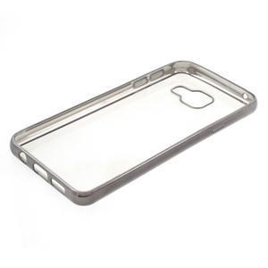 Rich gélový obal s šedým obvodem pre Samsung Galaxy A3 (2016) - 3