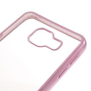 Rich gelový obal s růžovým obvodem na Samsung Galaxy A3 (2016) - 3