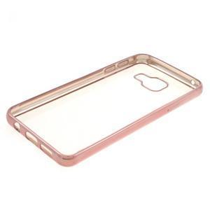 Rich gelový obal s růžovozlatým obvodem na Samsung Galaxy A3 (2016) - 3