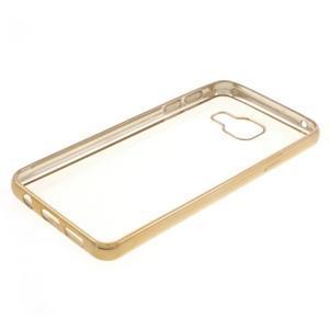 Rich gelový obal se zlatým obvodem na Samsung Galaxy A3 (2016) - 3