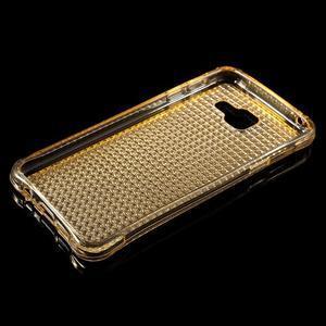 Diamonds gelový obal na Samsung Galaxy A3 (2016) - zlatý - 3