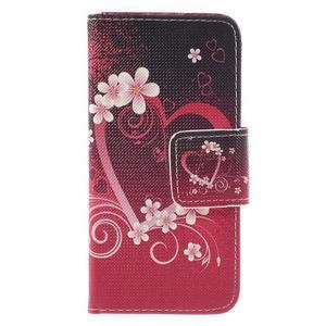 Peněženkové pouzdro na mobil Samsung Galaxy A3 (2016) - srdce - 3