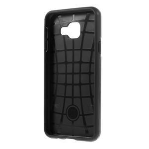 Odolný ochranný obal 2v1 pre mobil Samsung Galaxy A3 (2016) - čierný - 3