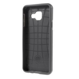 Odolný ochranný obal 2v1 pre mobil Samsung Galaxy A3 (2016) - šedý - 3
