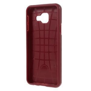 Odolný ochranný obal 2v1 pre mobil Samsung Galaxy A3 (2016) - červený - 3