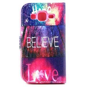 Puzdro pre mobil Samsung Galaxy Core Prime - believe - 3