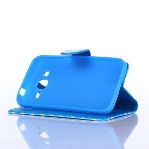 Standy peňaženkové puzdro pre Samsung Galaxy Core Prime - modrý vzor - 3