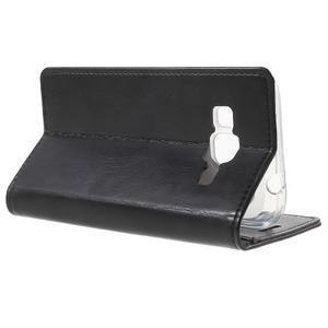 Moon PU kožené puzdro pre mobil Samsung Galaxy Core Prime - čierne - 3