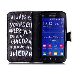 Emotive peňaženkové puzdro pre Samsung Galaxy Core Prime - unicorn - 3