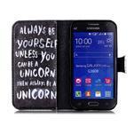 Emotive peňaženkové puzdro pre Samsung Galaxy Core Prime - unicorn - 3/6