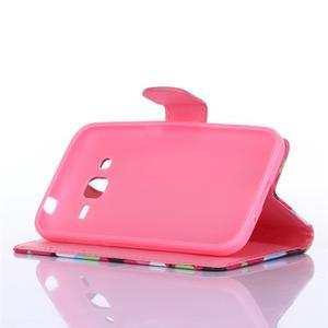 Standy peňaženkové puzdro pre Samsung Galaxy Core Prime - ananasy - 3