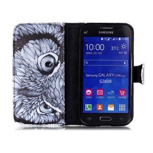 Emotive peňaženkové puzdro pre Samsung Galaxy Core Prime - sova - 3