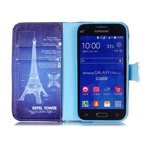 Emotive peňaženkové puzdro pre Samsung Galaxy Core Prime - Eiffelova veža - 3