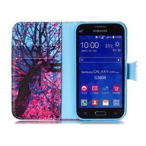 Emotive peňaženkové puzdro pre Samsung Galaxy Core Prime - strom - 3