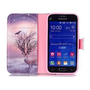 Emotive peňaženkové puzdro pre Samsung Galaxy Core Prime - mystický jelen - 3