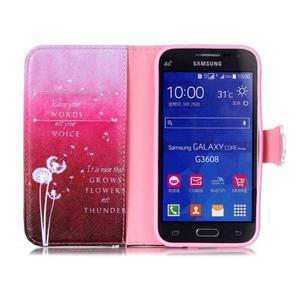 Emotive peňaženkové puzdro pre Samsung Galaxy Core Prime - púpavy - 3