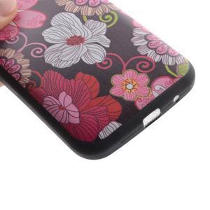 Hardy gélový obal pre mobil Samsung Galaxy Core Prime - kvetinová koláž - 3