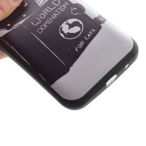 Hardy gélový obal pre mobil Samsung Galaxy Core Prime - mačička čte - 3