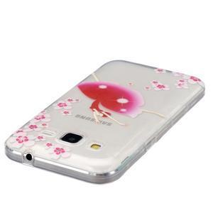Transparentní gelový obal na Samsung Galaxy Core Prime - květinová dívka - 3