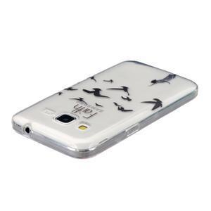 Transparentní gelový obal na Samsung Galaxy Core Prime - ptáčci - 3
