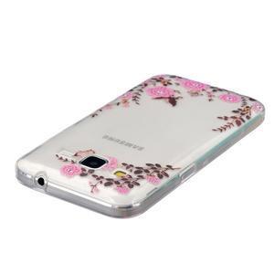 Transparentný gélový obal pre Samsung Galaxy Core Prime - kvety - 3