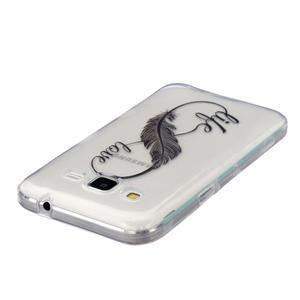 Transparentný gélový obal pre Samsung Galaxy Core Prime - love - 3