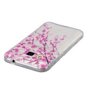 Transparentný gélový obal pre Samsung Galaxy Core Prime - kvitnúca slivka - 3