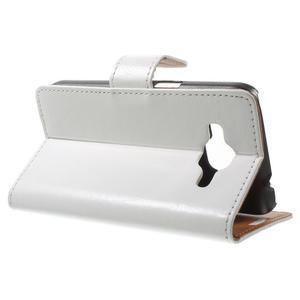 Horse PU kožené puzdro pre mobil Samsung Galaxy Core Prime - biele - 3