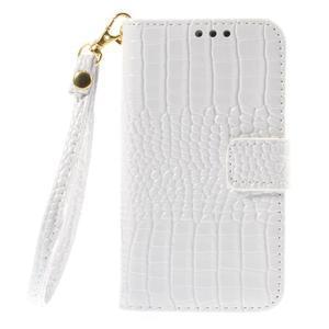 Croco peněženkové pouzdro na Samsung Galaxy Core Prime - bílé - 3