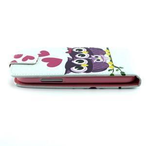 Flipové puzdro pre mobil Samsung Galaxy Core Prime - zamilované sovy - 3