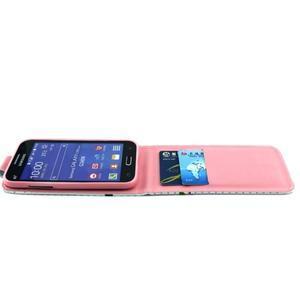 Flipové puzdro pre mobil Samsung Galaxy Core Prime - kvety - 3