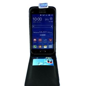 Flipové puzdro pre mobil Samsung Galaxy Core Prime - magický vlci - 3