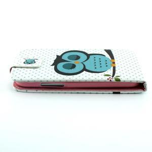 Flipové puzdro pre mobil Samsung Galaxy Core Prime - sova - 3