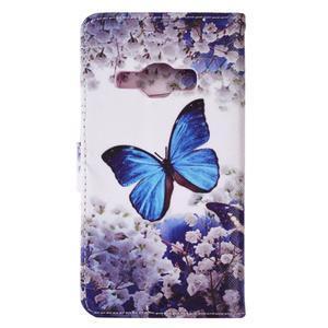 Emotive koženkové puzdro pre Samsung Galaxy J1 (2016) - motýlek - 3