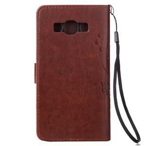 Magicfly PU kožené puzdro pre mobil Samsung Galaxy J1 (2016) - hnedé - 3