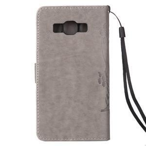 Magicfly PU kožené puzdro pre mobil Samsung Galaxy J1 (2016) - šedé - 3